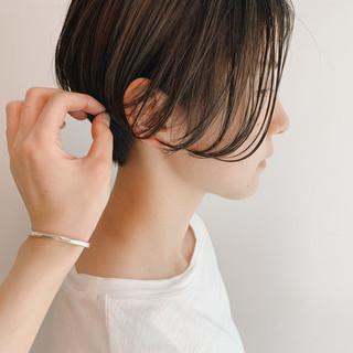 ハイライト ショート ナチュラル ハンサムショート ヘアスタイルや髪型の写真・画像