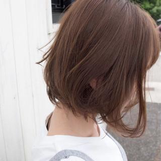 外ハネボブ ミニボブ ボブ ナチュラル ヘアスタイルや髪型の写真・画像