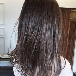 暗髪 簡単 ベージュ 上品 ヘアスタイルや髪型の写真・画像