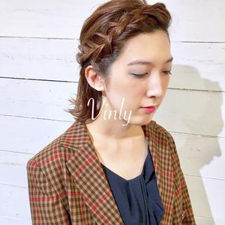 ウェーブ ナチュラル ゆるふわ 簡単ヘアアレンジ ヘアスタイルや髪型の写真・画像