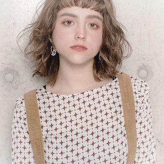 アンニュイほつれヘア デート フェミニン ボブ ヘアスタイルや髪型の写真・画像