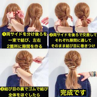 上品 簡単ヘアアレンジ オフィス セミロング ヘアスタイルや髪型の写真・画像 ヘアスタイルや髪型の写真・画像