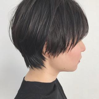ナチュラル ショート 簡単スタイリング ショートボブ ヘアスタイルや髪型の写真・画像