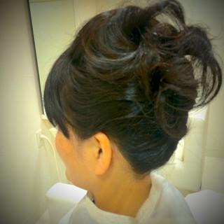 黒髪 簡単ヘアアレンジ ショート ヘアアレンジ ヘアスタイルや髪型の写真・画像