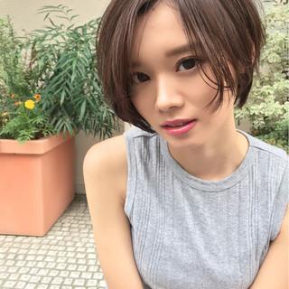 女子力 ボブ オフィス ナチュラル ヘアスタイルや髪型の写真・画像