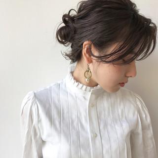 女子会 結婚式 秋 ヘアアレンジ ヘアスタイルや髪型の写真・画像