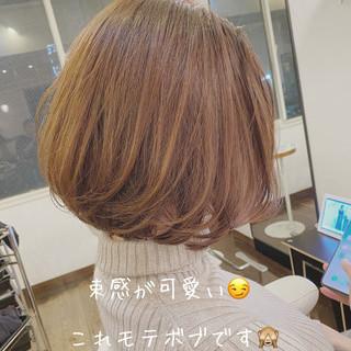 圧倒的透明感 ボブ モテボブ 透明感カラー ヘアスタイルや髪型の写真・画像