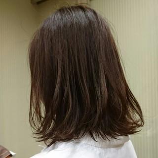 ナチュラル アッシュ ボブ ベリーピンク ヘアスタイルや髪型の写真・画像