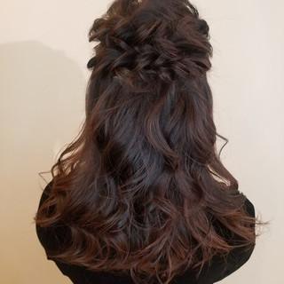 エレガント 結婚式ヘアアレンジ 結婚式 簡単ヘアアレンジ ヘアスタイルや髪型の写真・画像