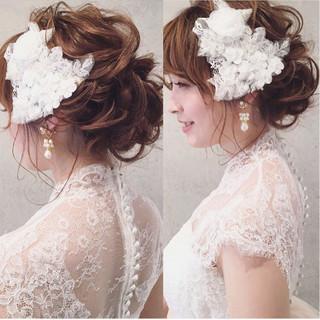 ヘアアレンジ 結婚式 パーティ 上品 ヘアスタイルや髪型の写真・画像