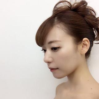 ロング 大人女子 夜会巻 モード ヘアスタイルや髪型の写真・画像