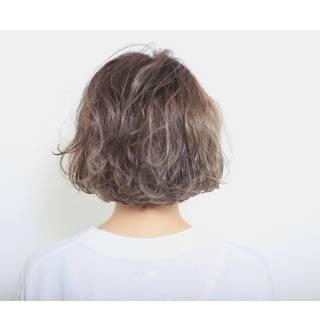 ショート ボブ カール 春 ヘアスタイルや髪型の写真・画像