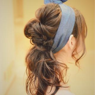 ヘアアレンジ ナチュラル フェミニン ゆるふわ ヘアスタイルや髪型の写真・画像
