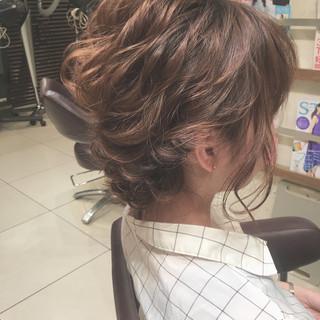 ヘアアレンジ ゆるふわ 大人女子 ナチュラル ヘアスタイルや髪型の写真・画像