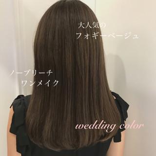 結婚式 きれいめ かわいい ナチュラル ヘアスタイルや髪型の写真・画像