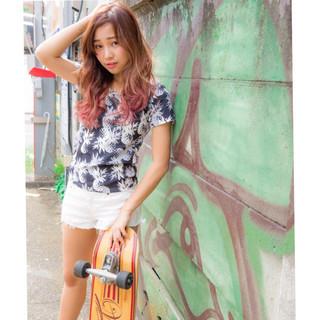 アンニュイ リラックス ストリート ロング ヘアスタイルや髪型の写真・画像