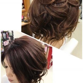 エレガント 上品 セミロング 色気 ヘアスタイルや髪型の写真・画像