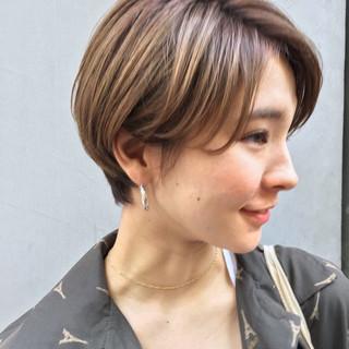 ショートボブ 小顔 比留川游 モード ヘアスタイルや髪型の写真・画像 ヘアスタイルや髪型の写真・画像