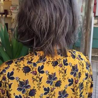 イルミナカラー ブルージュ ボブ ナチュラル ヘアスタイルや髪型の写真・画像