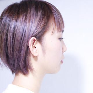 ピンクブラウン ピンクアッシュ ラベンダーピンク ボブ ヘアスタイルや髪型の写真・画像