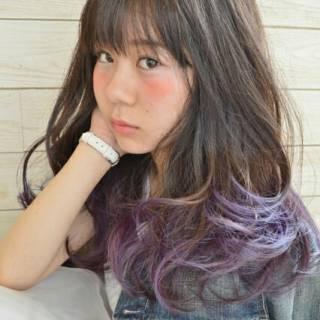 大人かわいい 外国人風 ゆるふわ グラデーションカラー ヘアスタイルや髪型の写真・画像 ヘアスタイルや髪型の写真・画像
