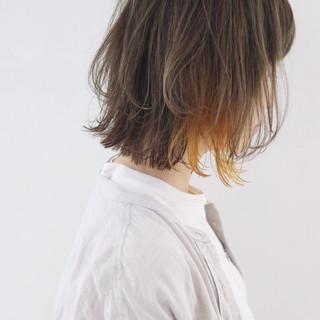 女子力 グレージュ ボブ ストリート ヘアスタイルや髪型の写真・画像