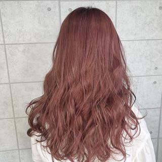 イルミナカラー ロング ピンクラベンダー フェミニン ヘアスタイルや髪型の写真・画像