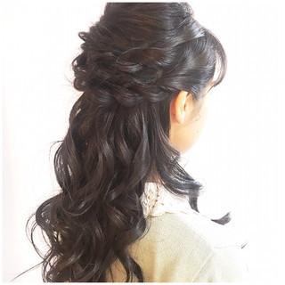 セミロング 簡単ヘアアレンジ デート 女子会 ヘアスタイルや髪型の写真・画像
