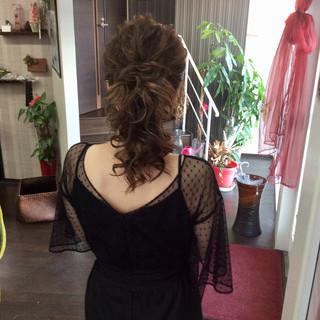 ロング ナチュラル 簡単ヘアアレンジ 結婚式 ヘアスタイルや髪型の写真・画像 | rumiLINKS美容室 / リンクス美容室