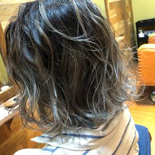 外国人風カラー ダブルカラー ボブ モード ヘアスタイルや髪型の写真・画像