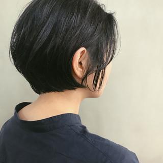 黒髪 ナチュラル ショート パーマ ヘアスタイルや髪型の写真・画像
