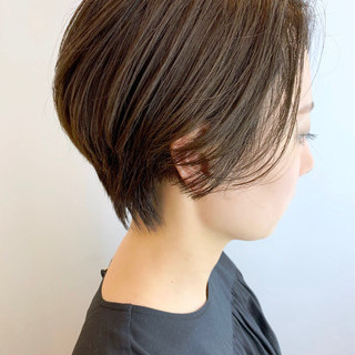 ショート ナチュラル ショートボブ ハンサムショート ヘアスタイルや髪型の写真・画像