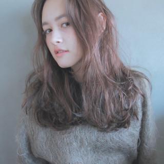 外国人風 簡単 ロング ナチュラル ヘアスタイルや髪型の写真・画像