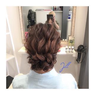 ミディアム ゆるふわ ヘアアレンジ 簡単ヘアアレンジ ヘアスタイルや髪型の写真・画像
