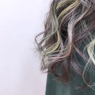 ナチュラル 大人かわいい グラデーションカラー インナーカラー ヘアスタイルや髪型の写真・画像