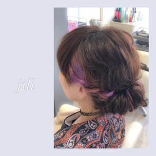 ショート ヘアアレンジ ミディアム ギブソンタック ヘアスタイルや髪型の写真・画像