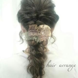 ショート 簡単ヘアアレンジ ヘアアレンジ ロング ヘアスタイルや髪型の写真・画像