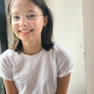 透明感 ミディアム 大人かわいい ガーリー ヘアスタイルや髪型の写真・画像