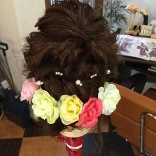 セミロング モテ髪 結婚式 ヘアアレンジ ヘアスタイルや髪型の写真・画像