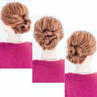 セルフアレンジ アップスタイル ヘアアレンジ ロング ヘアスタイルや髪型の写真・画像