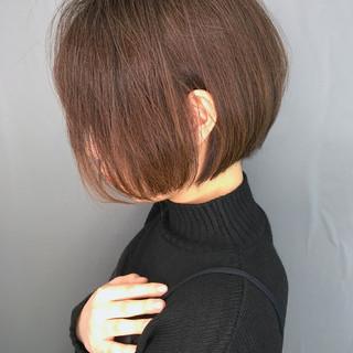 ナチュラル ボブ ショートヘア 大人かわいい ヘアスタイルや髪型の写真・画像