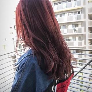 レッド 大人かわいい モテ髪 ナチュラル ヘアスタイルや髪型の写真・画像