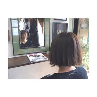 ナチュラル アシメバング ワンカール アッシュ ヘアスタイルや髪型の写真・画像