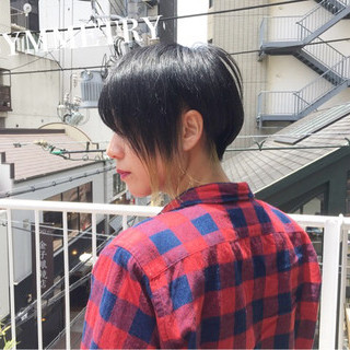 ハンサムバング ストリート ショート ハンサムショート ヘアスタイルや髪型の写真・画像