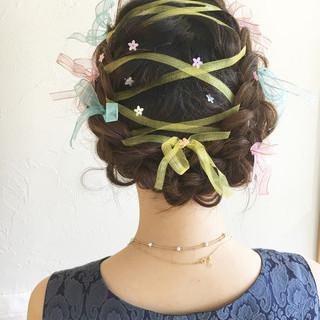 ヘアアレンジ 外国人風 結婚式 フェミニン ヘアスタイルや髪型の写真・画像