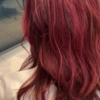 ピンクアッシュ セミロング ストリート 外国人風 ヘアスタイルや髪型の写真・画像