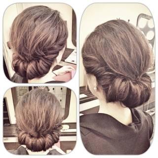 ギブソンタック ルーズ ヘアアレンジ 大人かわいい ヘアスタイルや髪型の写真・画像 ヘアスタイルや髪型の写真・画像