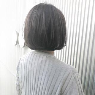 前髪 グレージュ ショート アッシュグレージュ ヘアスタイルや髪型の写真・画像