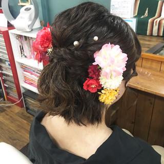 デート フェミニン ゆるふわ 成人式 ヘアスタイルや髪型の写真・画像