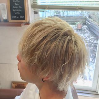 メンズスタイル ショート メンズヘア ホワイト ヘアスタイルや髪型の写真・画像